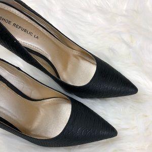 Sexy Black Shoe Republic LA Heels
